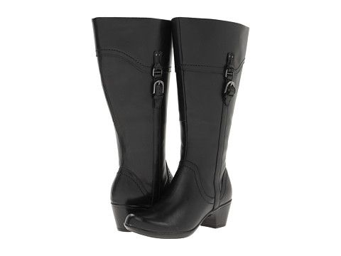 Womens Boots Clarks Ingalls Vicky2 - Wide Shaft Black Leather