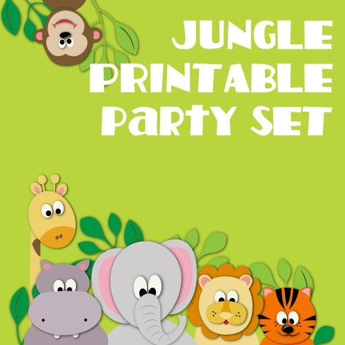 special animal printable party diy jungle party birthday banner tracyanndigitalart graphics on artfire - Free Printable Animal Pictures