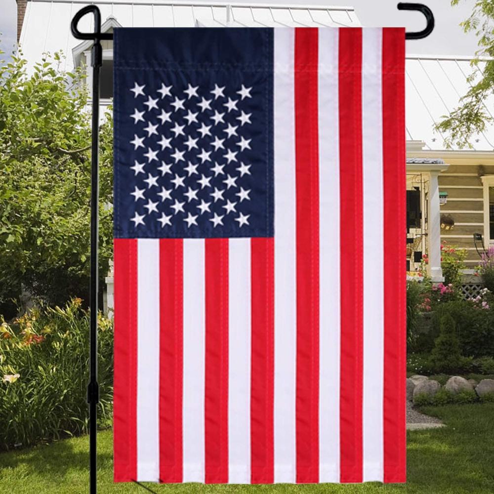 American Flag Stars Flags Garden Flag Sided Fabric Outdoor Decoration For Yard Garden Home Daelae Com In 2020 Home And Garden American Flag Stars Outdoor Decor