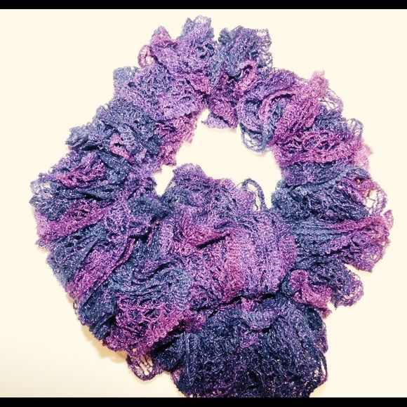 """Purple scarf Purple scarf.  Very pretty and lightweight.  37"""" long.  Shades of purple with a little sparkle in it Accessories Scarves & Wraps"""