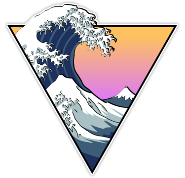 Great Wave Aesthetic Sticker Art Journaling Pictures Collage