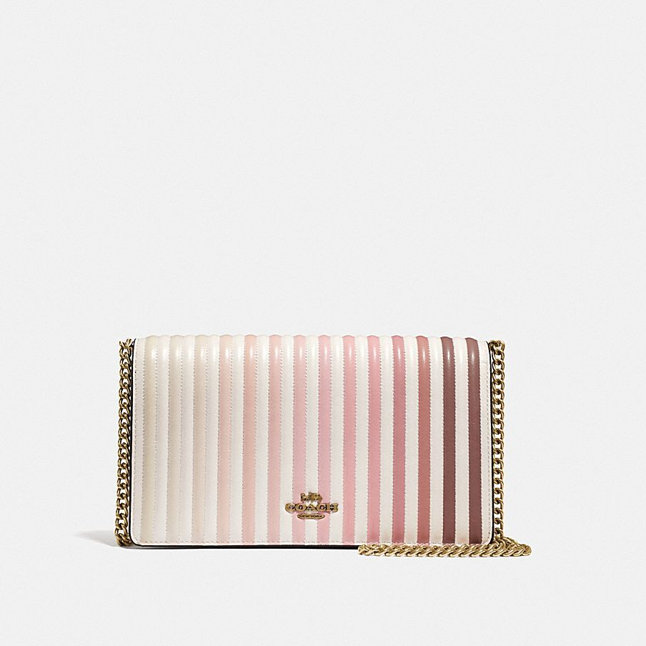 581260a9f5 Coach Callie Foldover Chain Clutch With Ombre Quilting | I Want ...