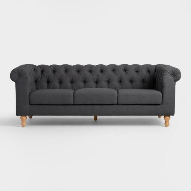 Best Charcoal Gray Quentin Chesterfield Sofa V2 Sofa 400 x 300