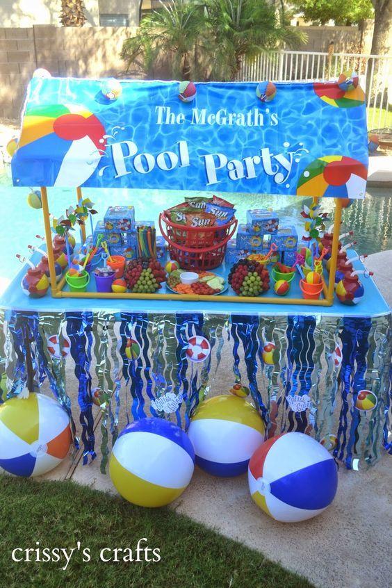 Fiesta en alberca para ni os decoraciones de piscina for Albercas para fiestas