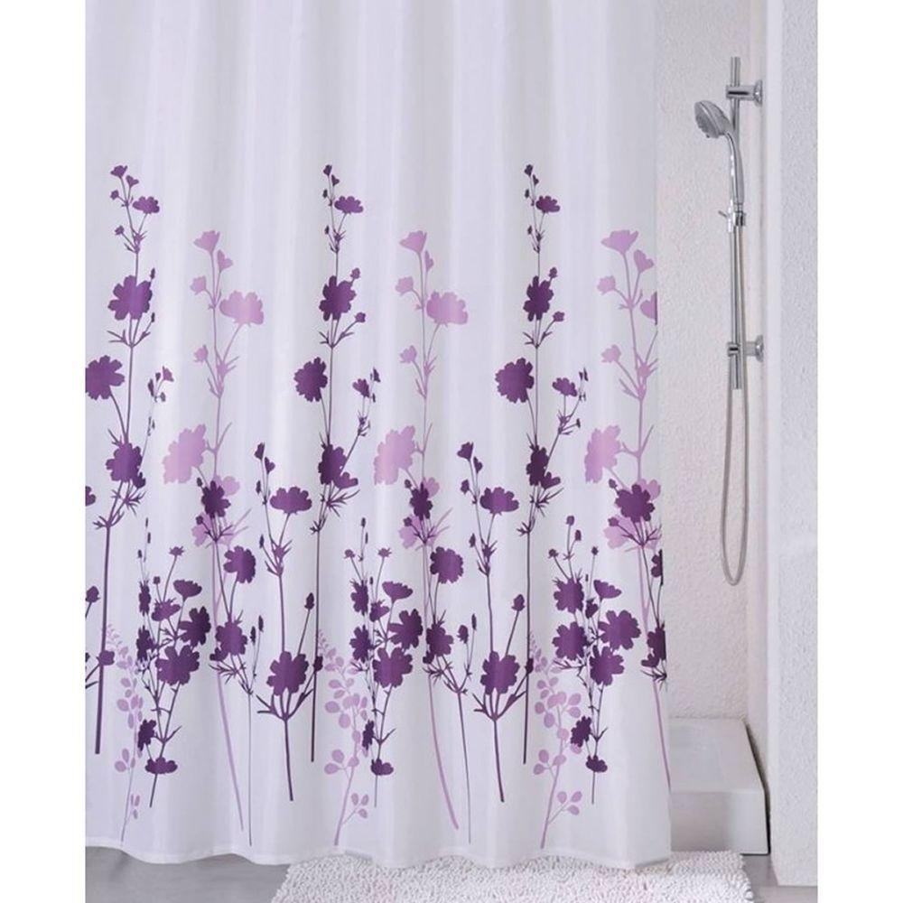 Sabichi Luxury Shower Curtain Clara 100 Polyester Purple Lilac