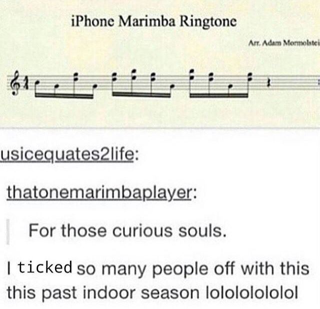 Music for the iPhone ringtone...this probably won't work