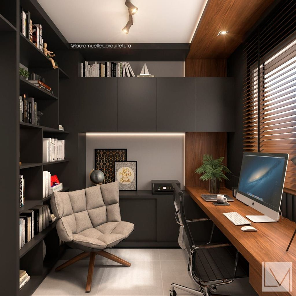 35 Gorgeous Modern Office Interior Design Ideas You Never Seen Before A Conventional Workplace Is No Longer Modernes Homeoffice Büro Design Innenarchitektur