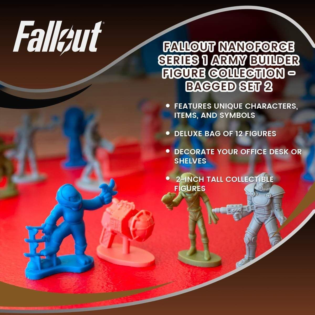 Fallout Nanoforce Series 1 Army Builder Figure Collection Bagged Set 2 In 2021 Bag Set Unique Stocking Stuffers Army