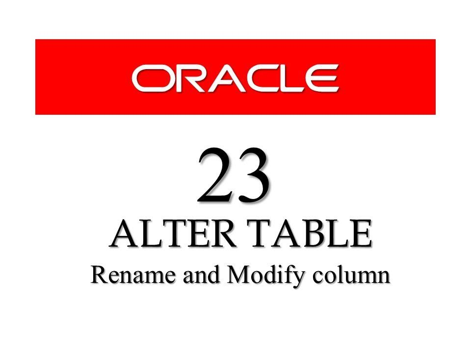 Sql Tutorials 23 Rename And Modify Column Using Alter Table By Manish S Sql Tutorial Sql Data Science