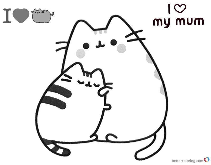 Get These Pusheen Coloring Pages And Have Fun With It Pusheen Coloring Pages Cat Coloring Page Cute Coloring Pages