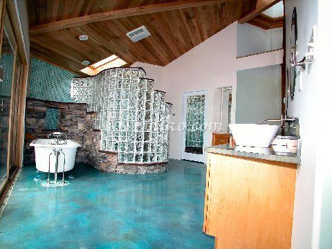 acid staining transforms an ordinary concrete slab into a