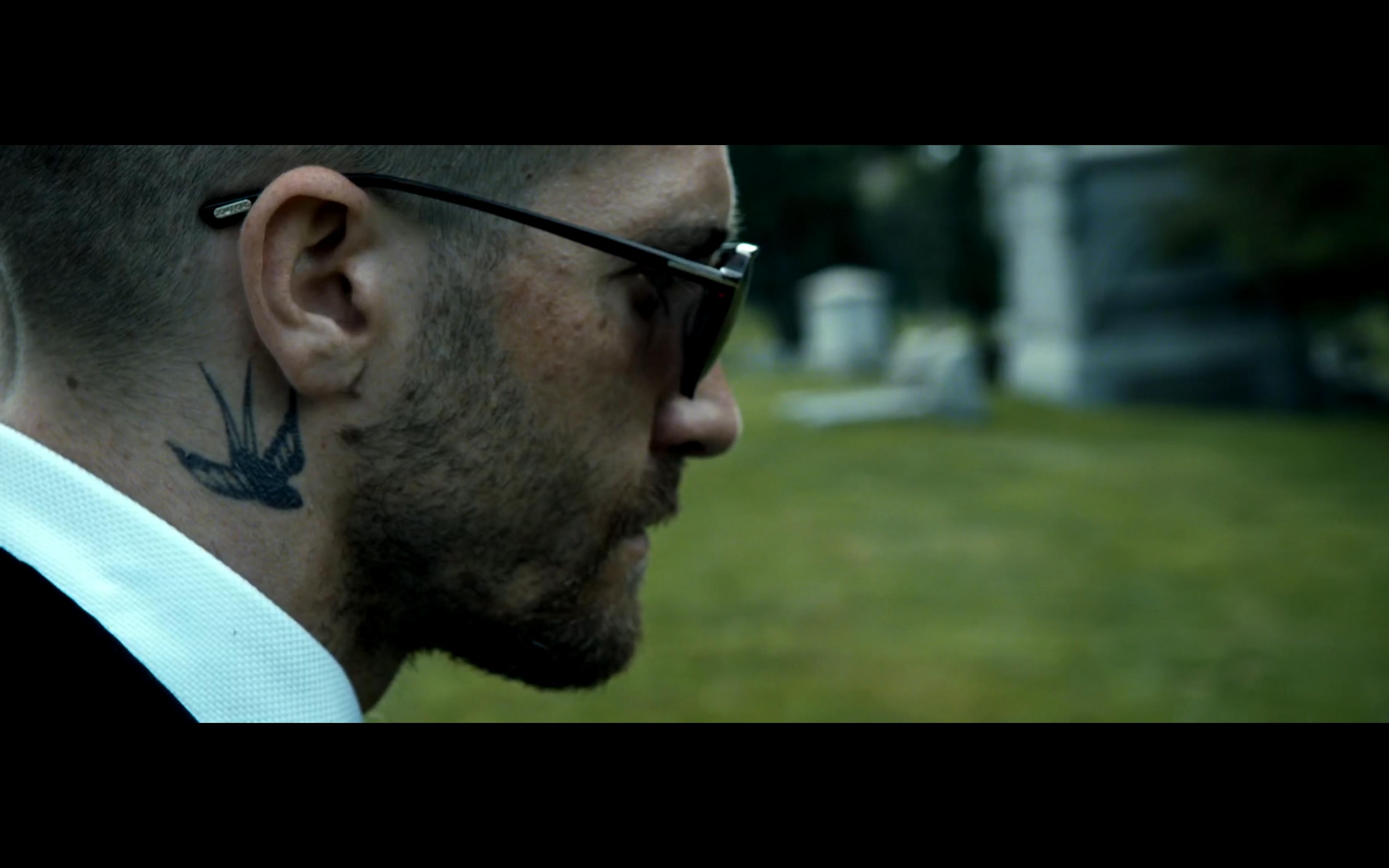 Southpaw Movie Billy Hope Jake Gyllenhaal Tom Ford Sunglasses Bird Tattoo Bird Tattoo Neck Hope Tattoo Neck Tattoo For Guys