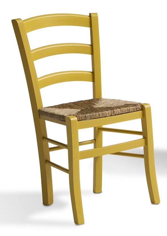 Sedia in faggio con seduta impagliata. Colorata e allegra ideale per ...