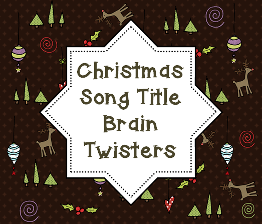 Christmas Song Titles Game Fun christmas activities