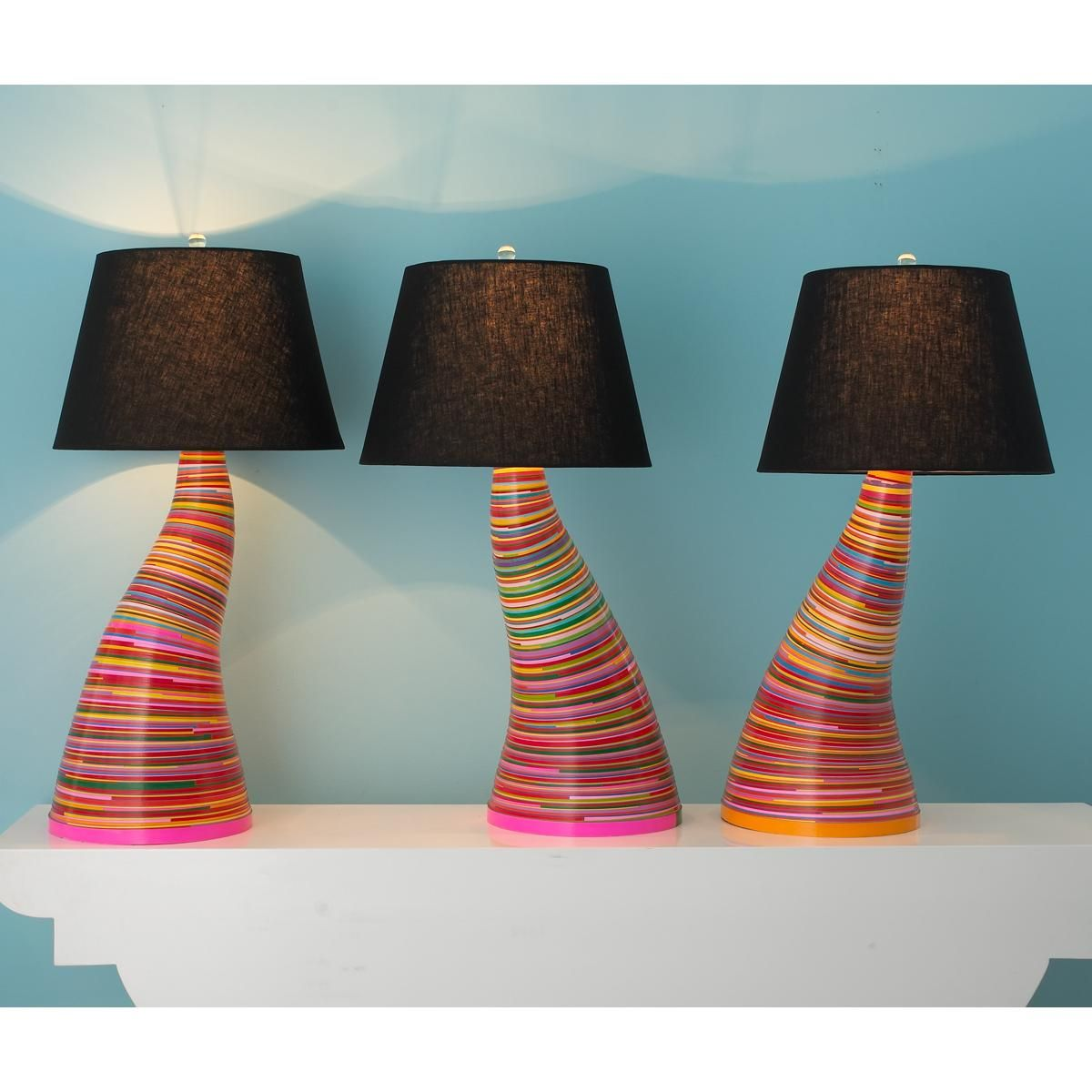 Paper Coil Table Lamp I Bet I Could Make This There S No Way I