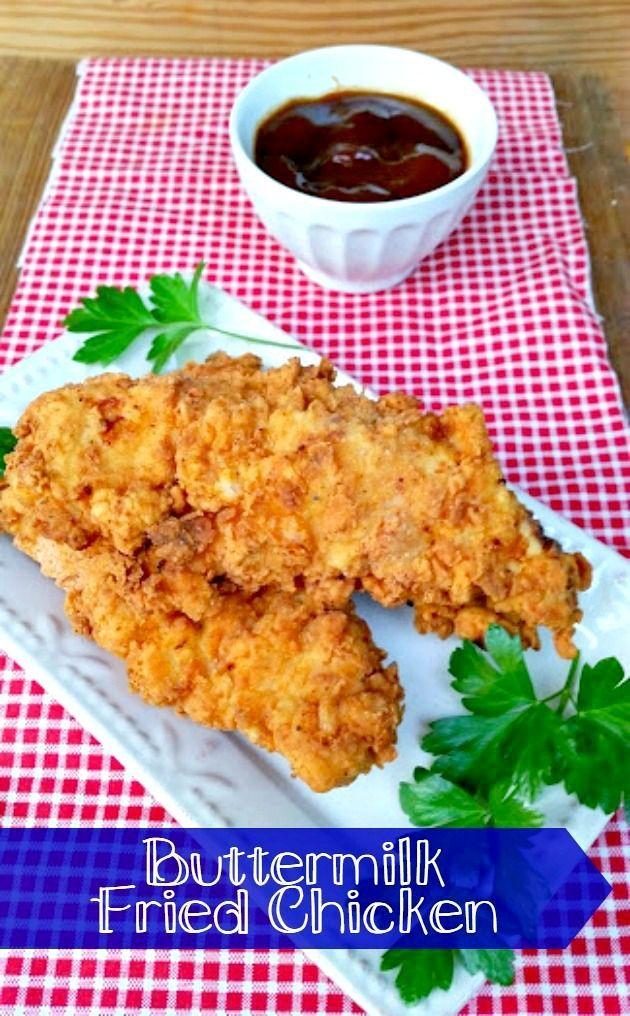 Buttermilk Fried Chicken Recipe The Seaman Mom Fried Chicken Recipes Fried Chicken Recipe Easy Chicken Recipes