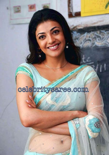 c0496fca80eaf7 Kajal Agarwal in Sexy Transparent Saree   Saree Blouse Patterns ...