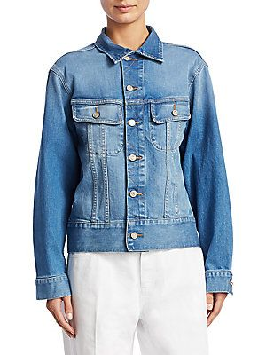 Oscar de la Renta embroidered denim jacket Real bHhVJ