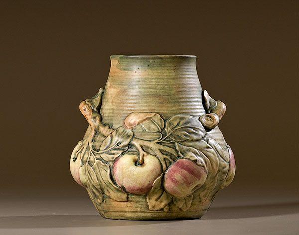 Weller Baldin Apple Vase, - Cowans Auctions