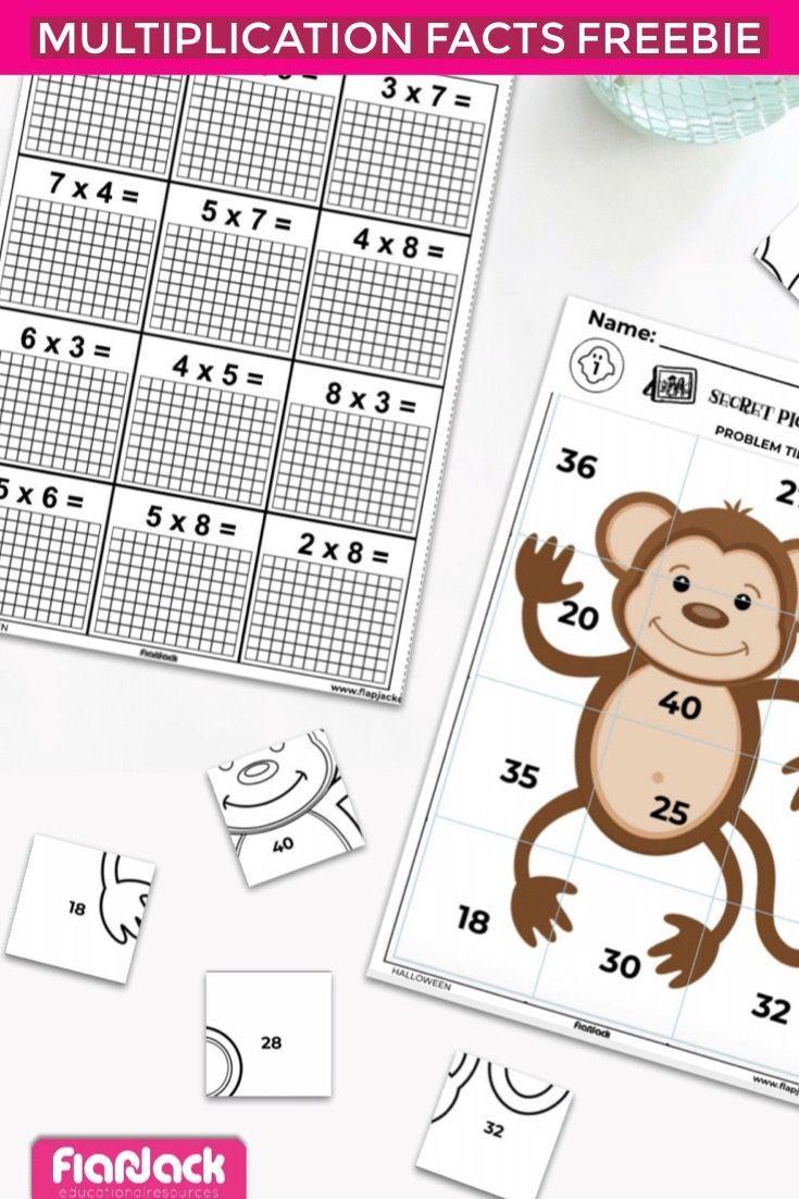 Monkey multiplication math freebie these monkeys make