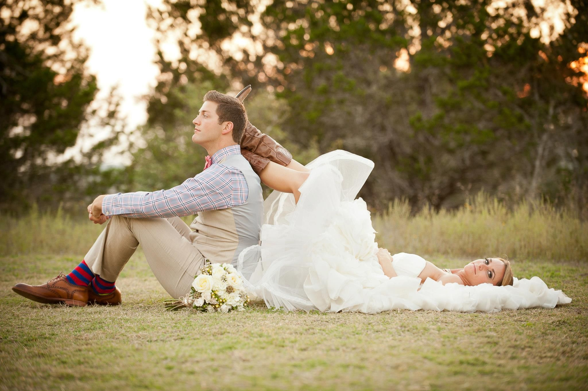 cowgirl boots+wedding dress= perfection