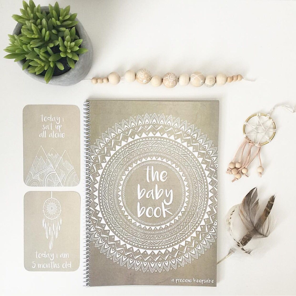 Boho Baby Book   Keepsake Journal Newborn Milestone And Memory Gender  Neutral Baby Shower Gift Www