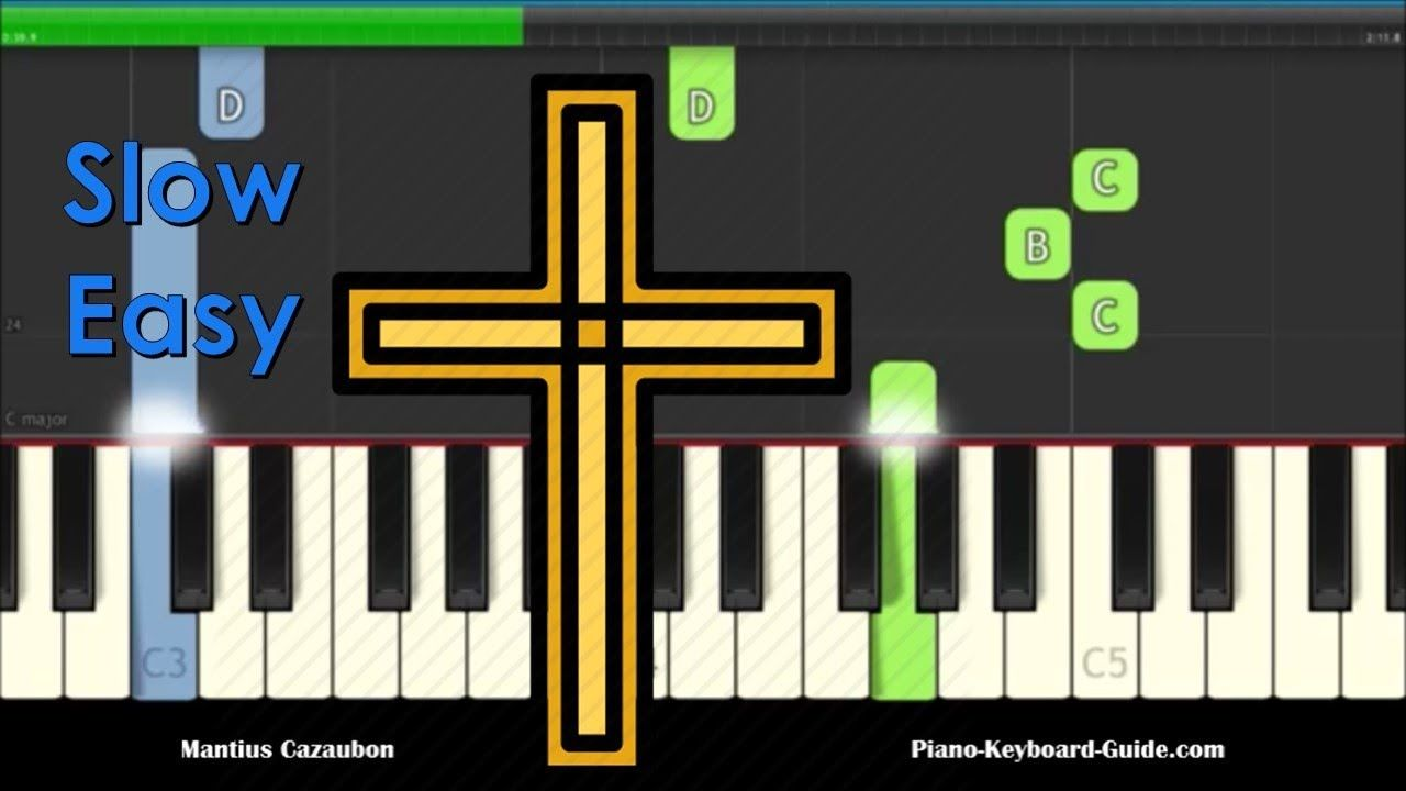 How Great Thou Art Slow Easy Beginners Piano Keyboard Tutorial Youtube Keyboard Tutorial Piano Tutorials Learn Piano