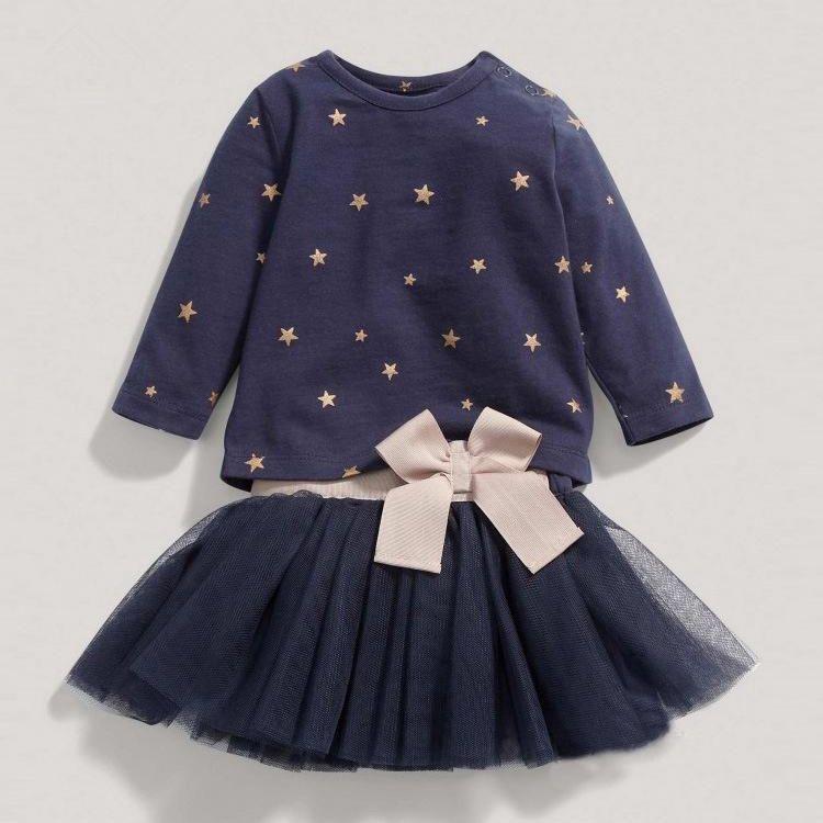 Autumn Toddler Baby Girls Clothes Dress Kids Child Clothing Skirt Infant Dresses