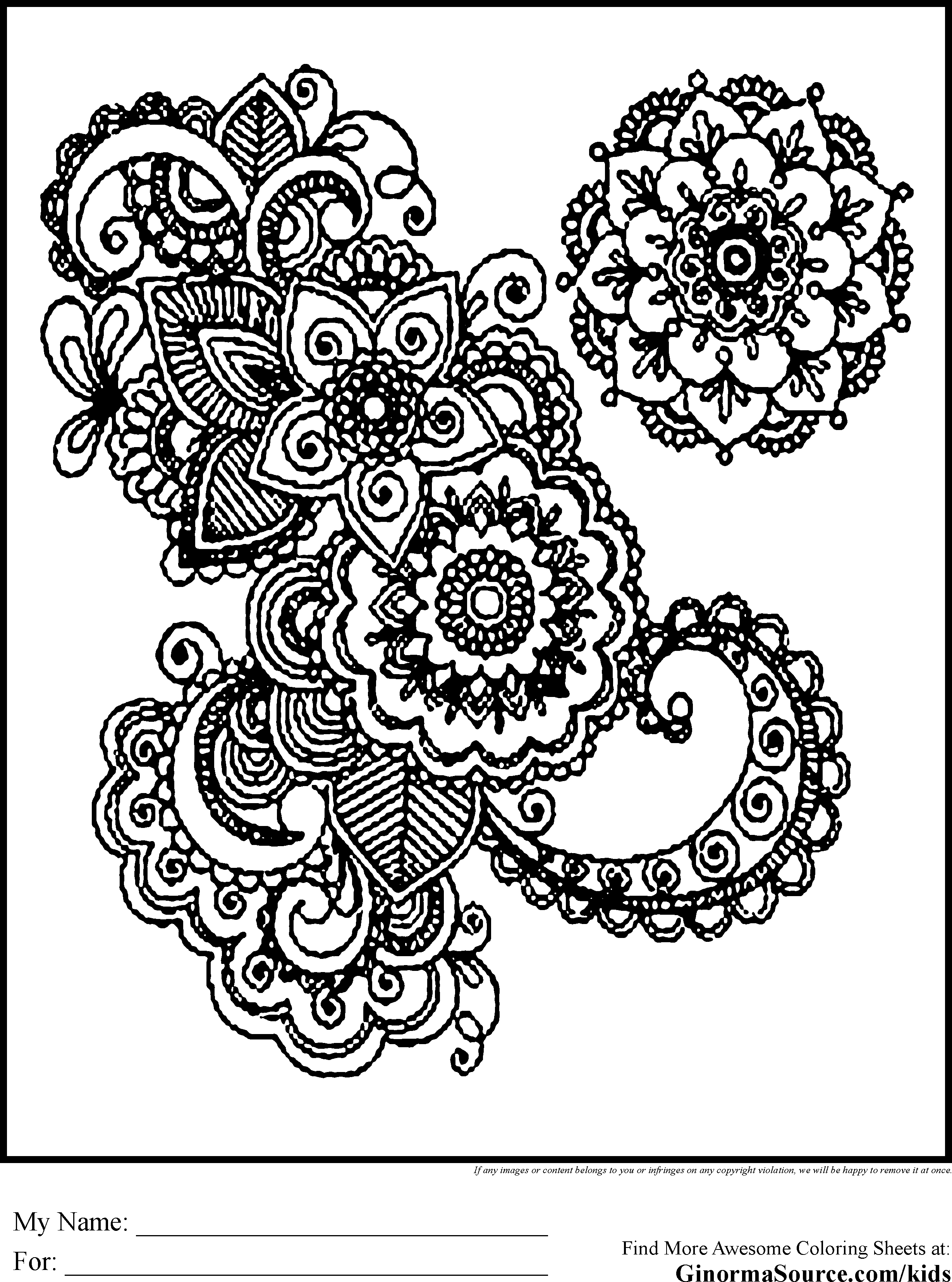 coloring pages for adults advanced coloring pages ginormasource kids - Intricate Coloring Pages Kids