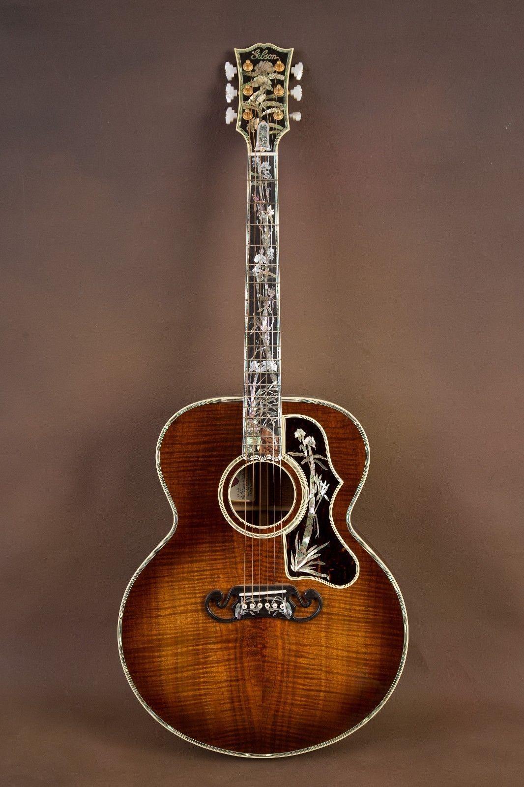Gibson Sj 200 Koa Master Museum Custom Acoustic Guitar J 200 Bass Guitar Case Custom Acoustic Guitars Gibson Acoustic