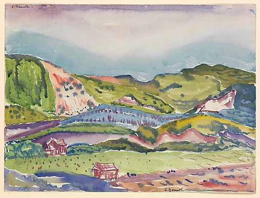 Charles Demuth American 1883 1935 Mountain With Red House Ca 1913 The Metropolitan Museum Of Art New York Alfred Stieglitz C Art Charles Demuth Artist