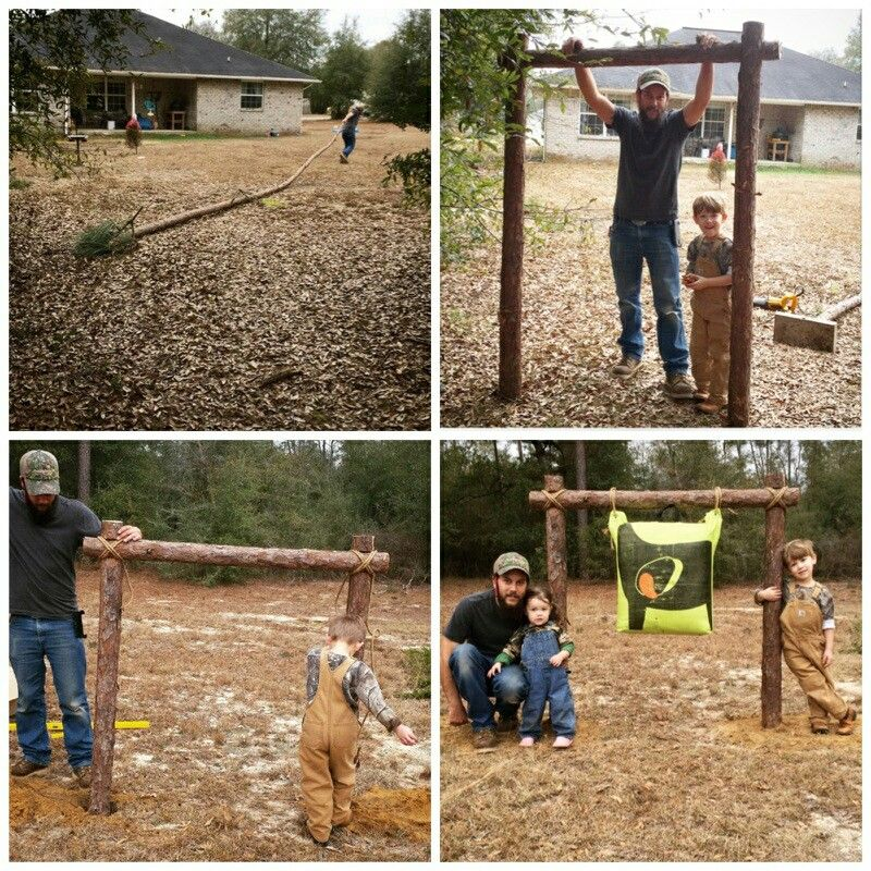 Diy Archery Target Stand 1) Cut Small Pine Tree 2) Cut 2