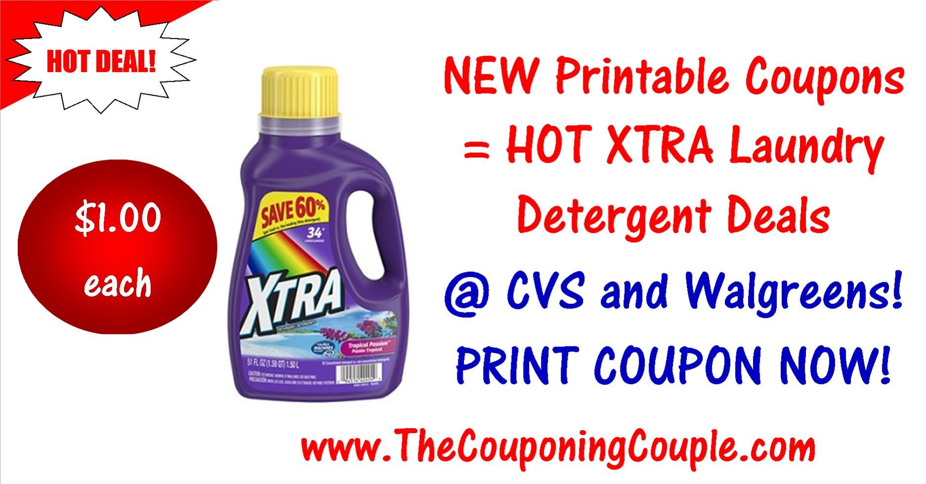 Hot Xtra Laundry Detergent Deals Print New Coupon Xtra