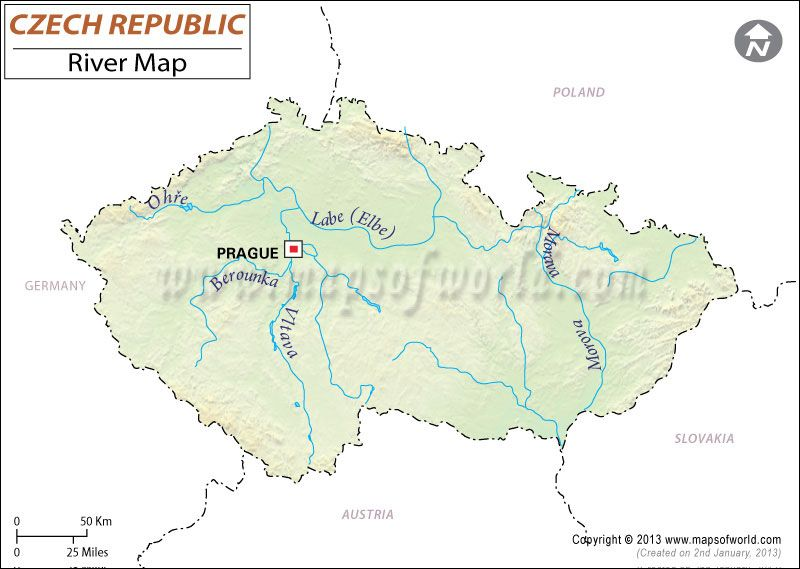 Czech Republic River Map River maps Pinterest Czech republic