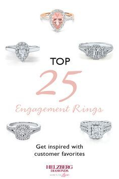 Discover whats trending in engagement rings Helzberg is home to