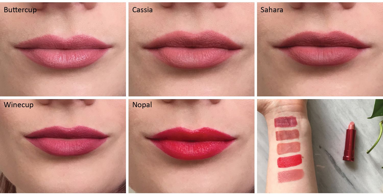 100 Pure Matte Lipstick Swatches