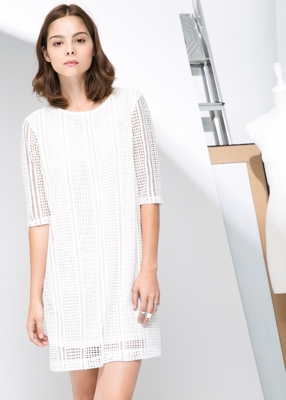 Rhombus openwork dress - Woman   Tia   Pinterest ab06de6fe4