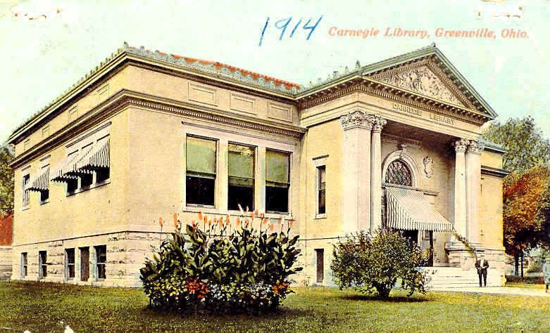 Carnegie Library (now Greenville Public Library) in Greenville, Ohio, in 1914.