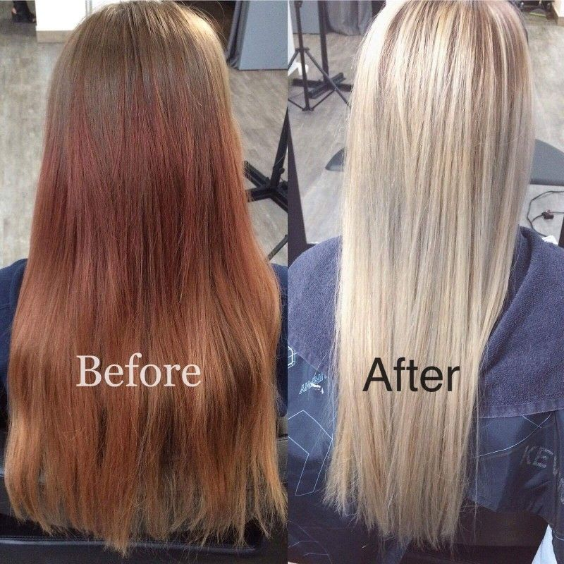 Red To Blonde In One Day Red Blonde Hair Red To Blonde Color Correction Hair