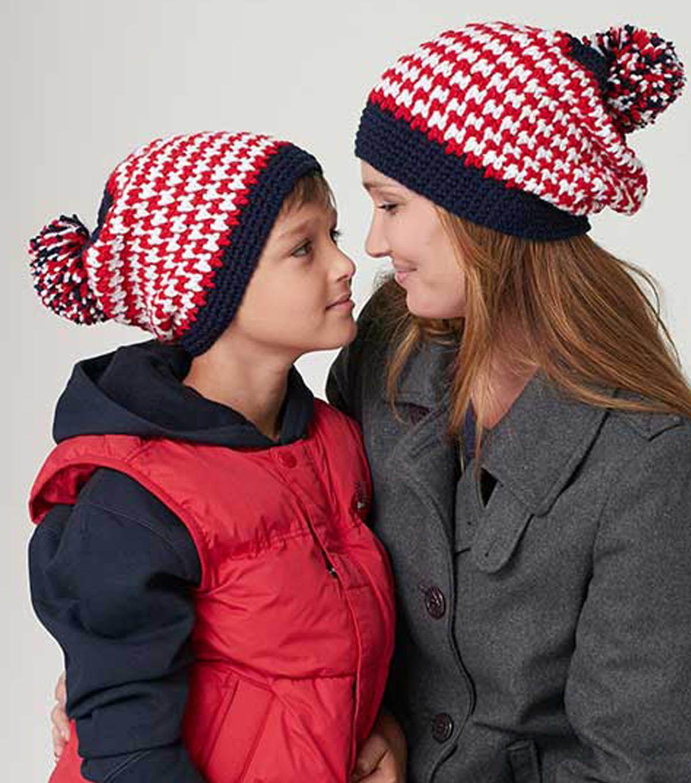 Houndstooth crochet hat pattern - free! | Projects- Crochet Hats ...