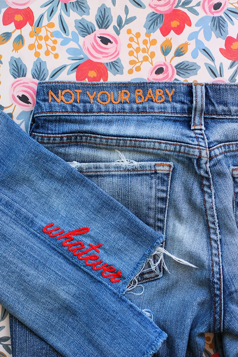 Diy denim embroidery color shades discovery and stylists for months ive been anxious to try my hand at denim embroidery but diy solutioingenieria Image collections
