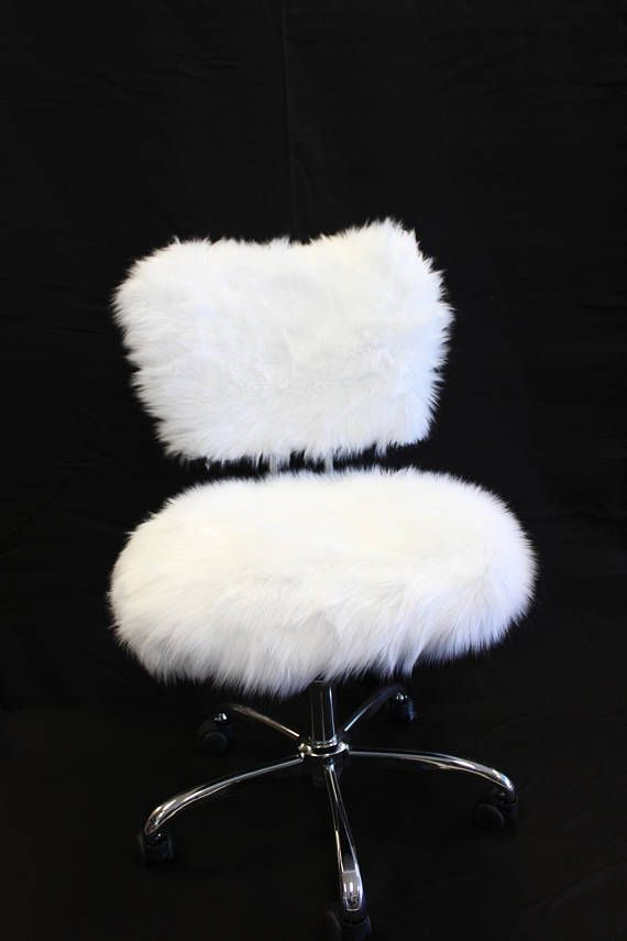 Faux Fur Slip Covers For Arm Less Office Chairs Chair Not