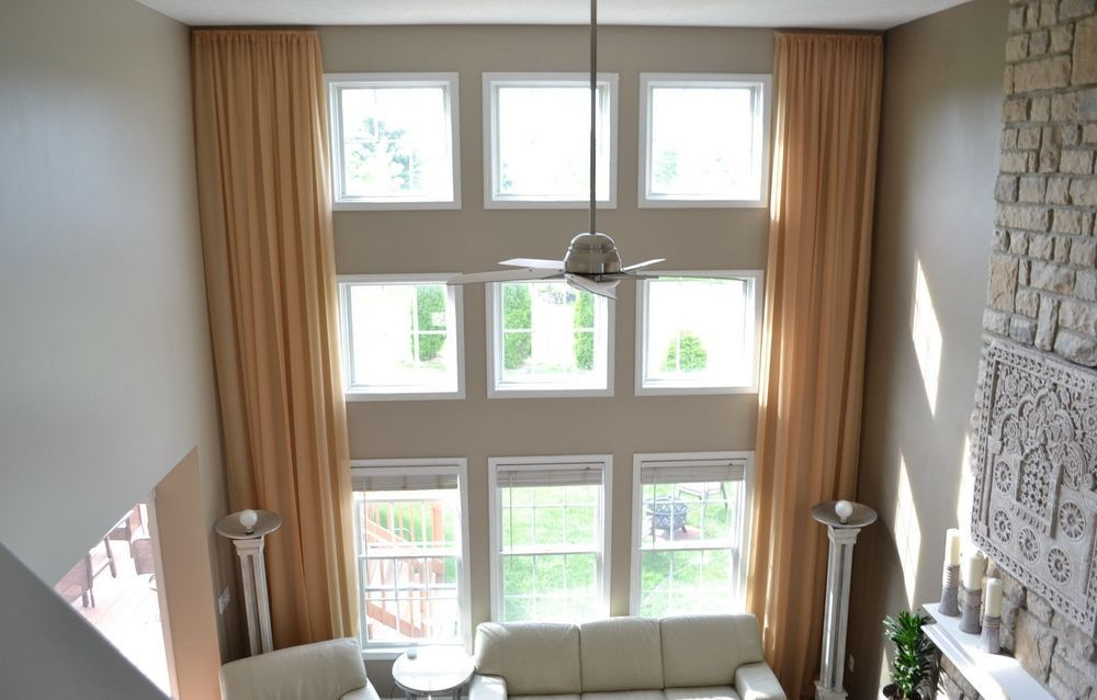 Details About 2 Extra Long Curtains For High Ceiling Sheer Drapes