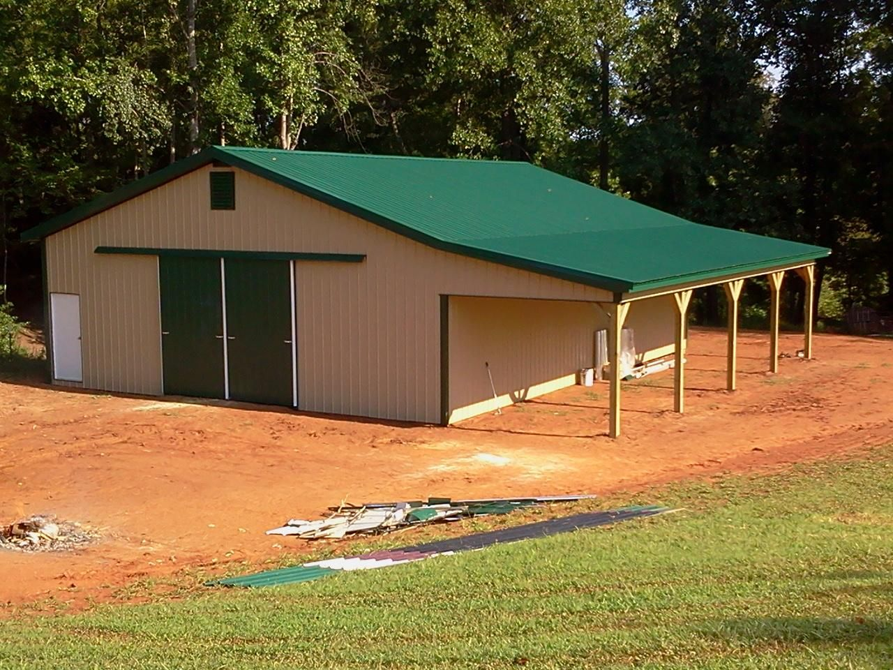 36x48x12 with 12x48 Shed - Post Frame Building - Horse Barn www ...