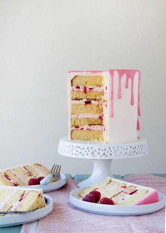 raspberry blood orange cake