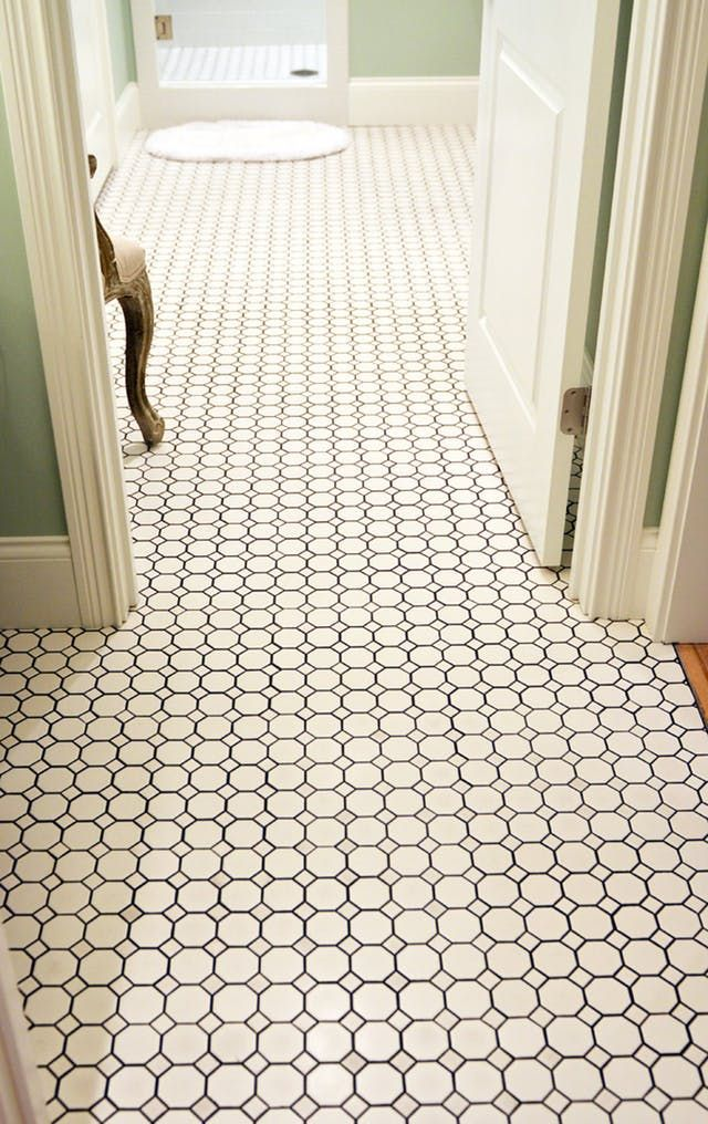 This Versatile Vintage Classic Is Back In Bathrooms Everywhere Octagon Tile Bathroom Floor Tiles Tile Bathroom