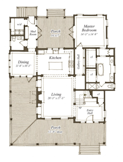 The New Park View House Plan Sl1826 By Our Town Plans Artfoodhome Com House Plans House Plans And More Cottage Plan