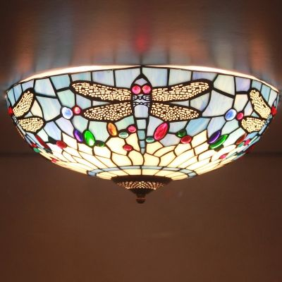 fancy design dragon lamps. Buy Fancy Stained Glass 16 Inch Wide Tiffany Flush Mount Ceiling Light with  Dragonfly Pattern
