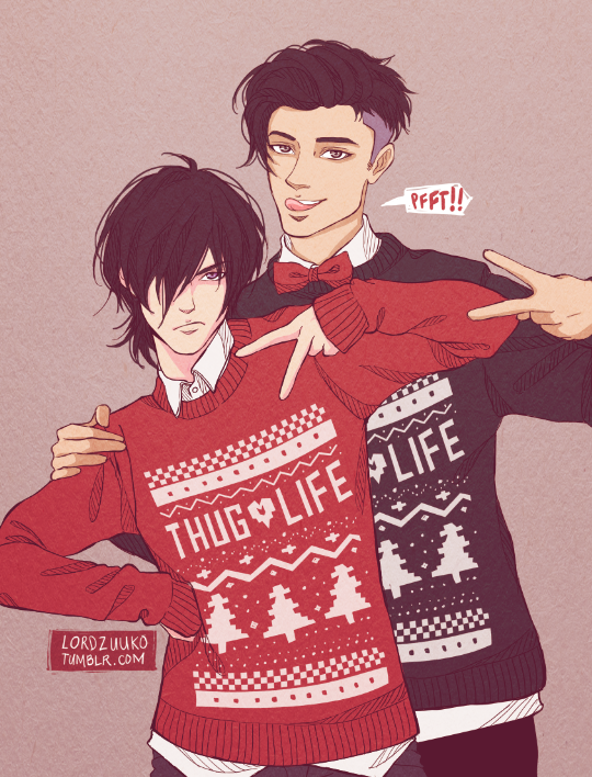 Badass Christmas Gifts Part - 29: Shiro, I Said To Look Badass. Shiro: *laughs* What? I Think Itu0027s Funny  Though. It Started Out As A Gag Gift But Keith Loved It Too Much Because ...