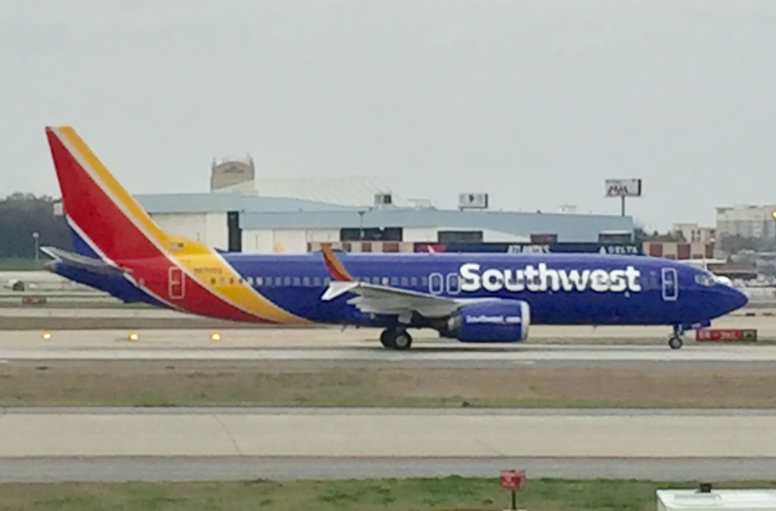 Southwest Airlines Boeing 737 MAX 8 registered N8705Q taxiing at Atlanta March 10
